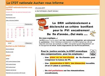 Site de la CFDT Auchan