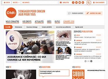 Site de la confédération CFDT