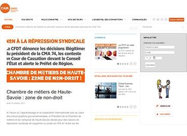 Site de la Fédération des services CFDT